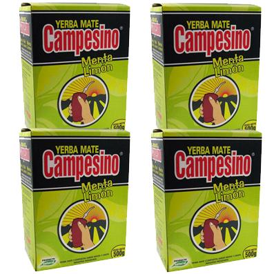 Mate tea Campesino menta-citrom 2kg (2 x 500g)