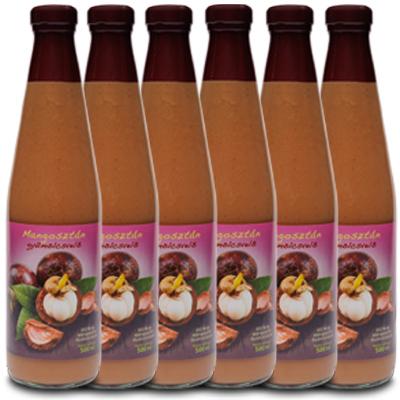Mannavita MANGOSZTÁN gyümölcslé 100%-os, 500ml (5 + 1 ajándék)