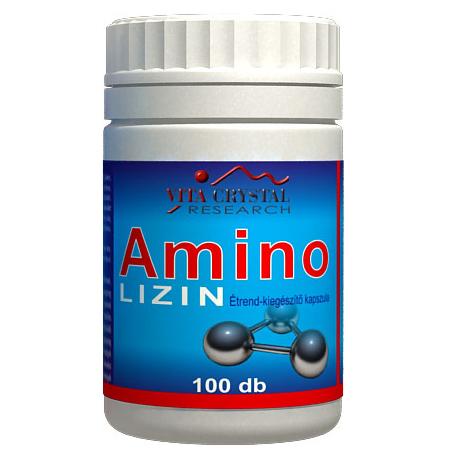 Crystal Amino Lizin kapszula, 100db