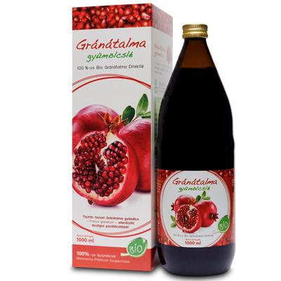 Mannavita GRÁNÁTALMA gyümölcslé 100%-os, 1000ml (5+1 ajándék)