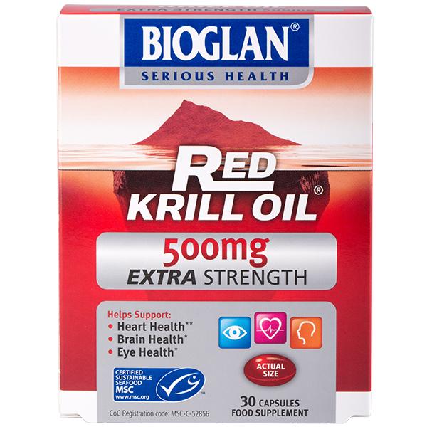 Bioglan Extra erős 500mg Krill olaj, 30db