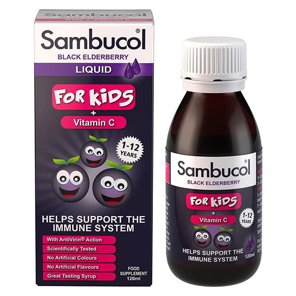 Sambucol fekete bodza szirup gyermek, 120ml
